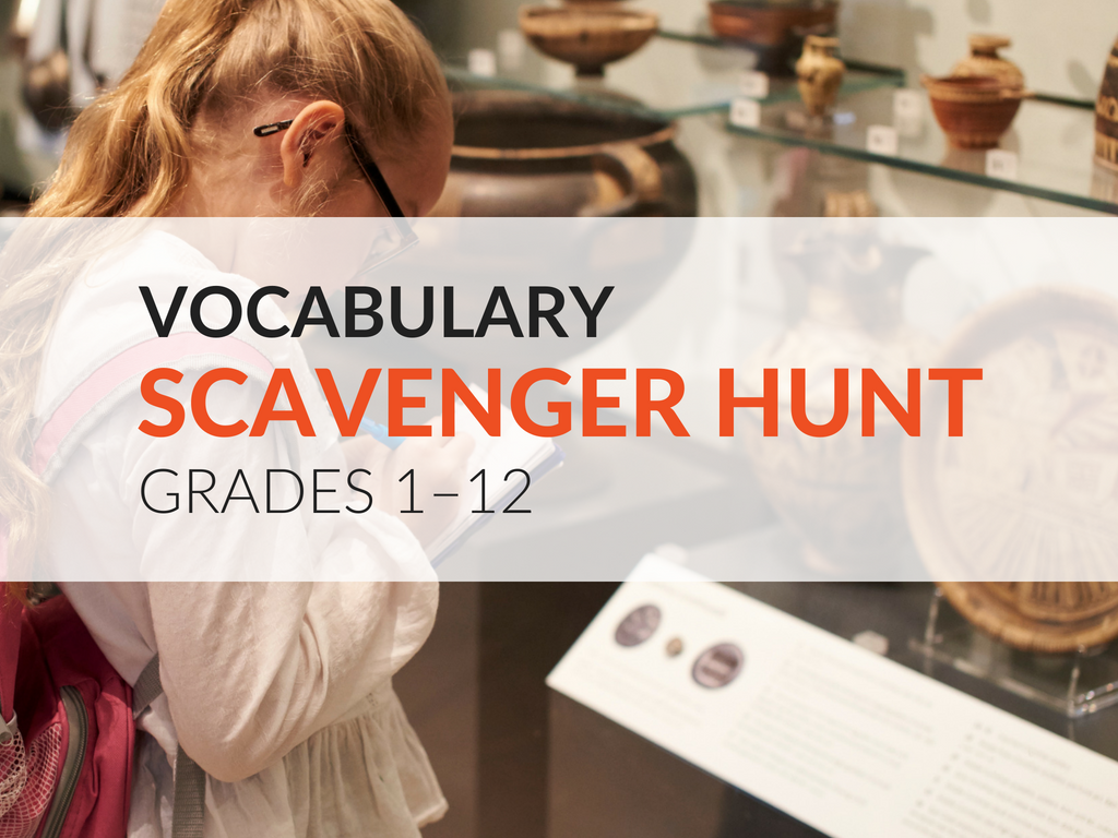 The Vocabulary Scavenger Hunt Activity challenges students to take the time to discover words by looking and listening in their everyday life, and finding them in a variety of contexts! In this article, you'll discover how to set up the parameters, offer incentives, begin the activity, and ways students (and educators) can share their discoveries on both social media platforms and traditional pen and paper responses.