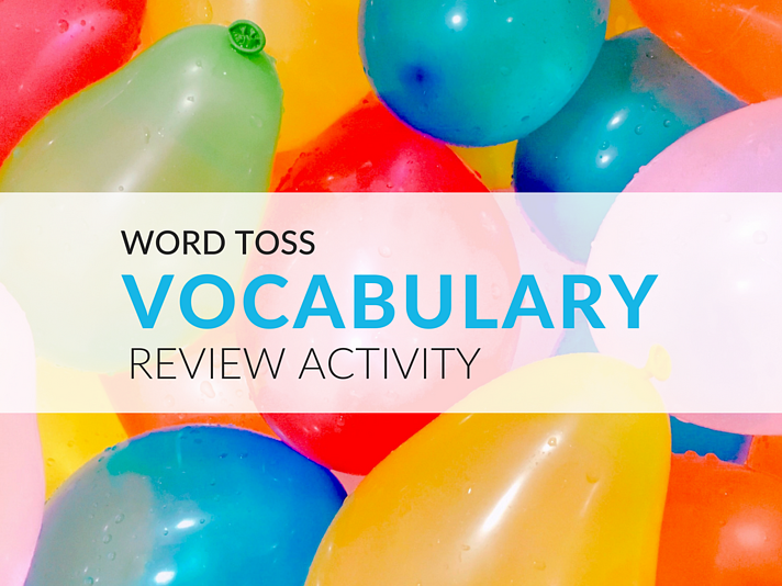 Word Toss is a vocabulary review activity that will get students interacting and competing to use words correctly!