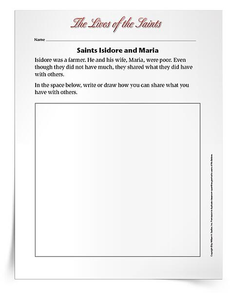 Printable Activities to Celebrate May Feast Days - Saints Isidore and Maria