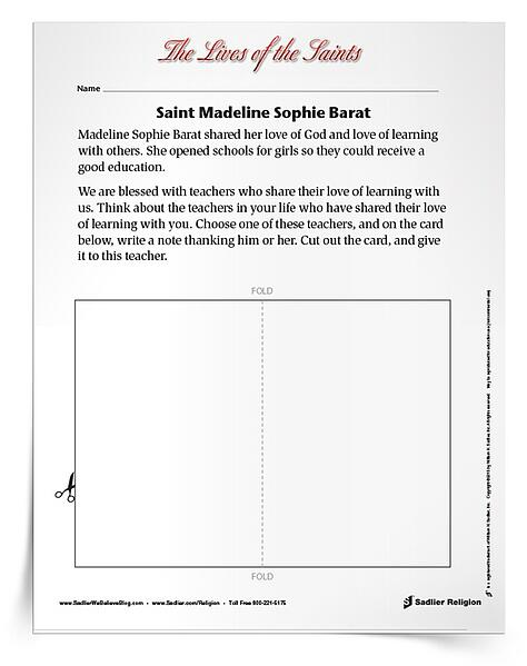 Printable Activities to Celebrate May Feast Days - Saint Madeline Sophie Barat