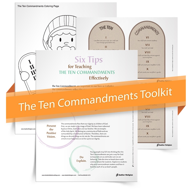 picture about Ten Commandments Printable Activities called 10 Commandment Things to do for Young children