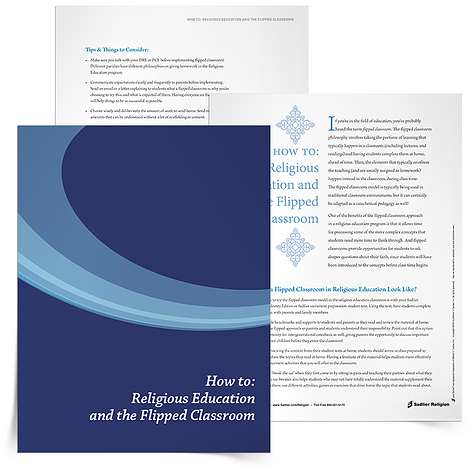 The flipped classroom approach may offer some key benefits to the families and children in your Catholic religious education program, including opportunities for intergenerational catechesis and more dedicated class time for students to explore and discuss their Catholic faith.