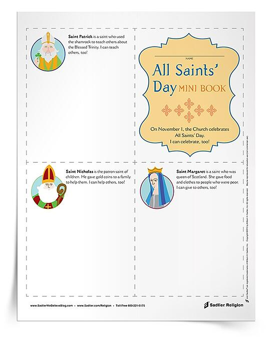 Complement your All Saints' Day lessons and celebrations with a printable activity for primary aged students. This All Saints' Day for Kids Mini Book can be used in the classroom or at home. Children can honor all of the saints and the rich impact they had on the lives of others.