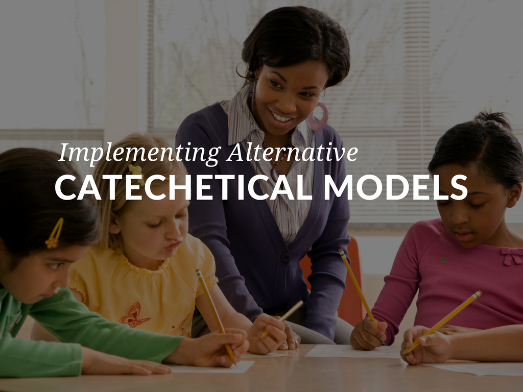 "There are multiple models for Catholic catechesis. Using alternative models of catechesis or incorporating elements from these models into traditional catechetical programs offers options to parishes as they ""inform the faith community and candidates for initiation into the Church about the teachings of Christ."" implementing-alternative-models-of-catholic-catechesis-catehcetical-instruction.png"