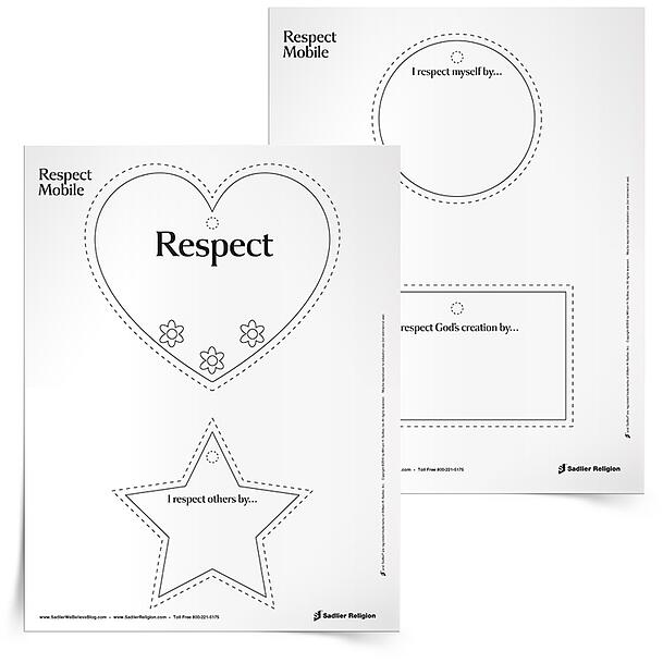 Teaching Catholic Children To Show Respect A Great Way to – Respect Worksheets
