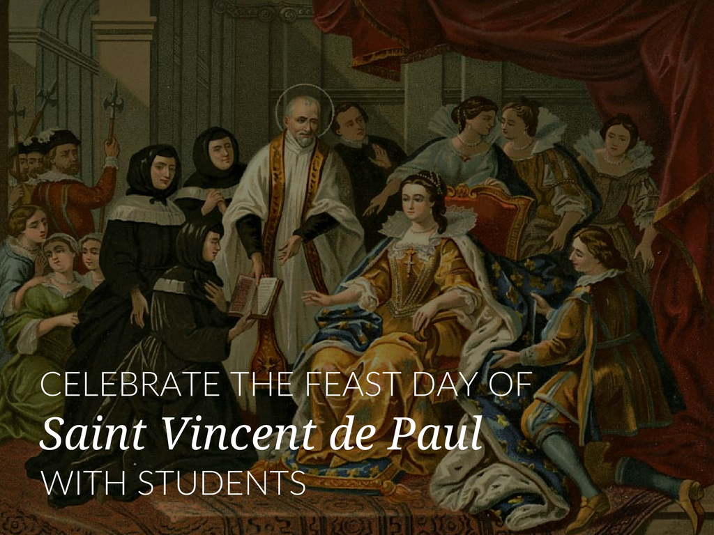 September 27, the Church celebrates the Feast Day of St. Vincent de Paul. Download two activities students can use to celebrate the life of St. Vincent de Paul