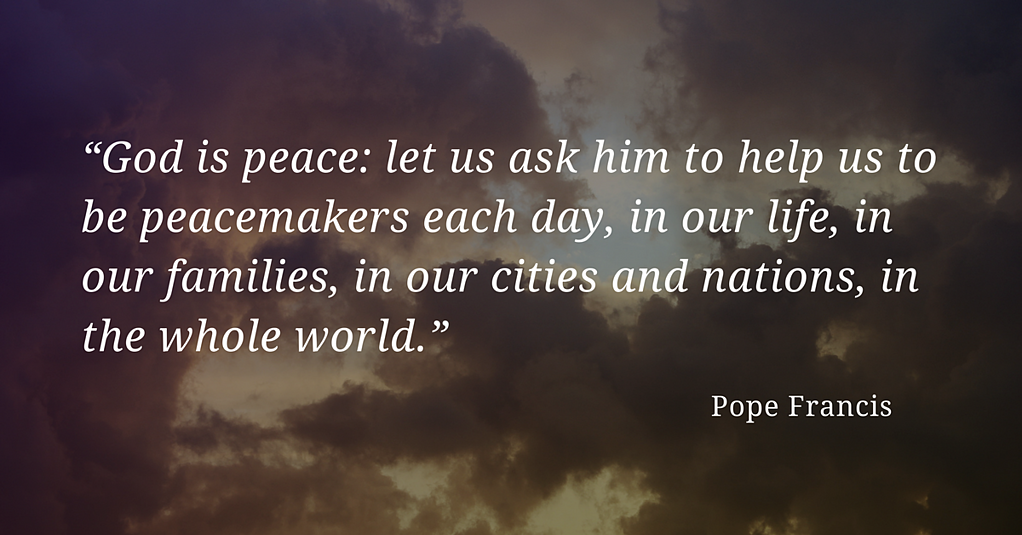 "Pope Francis has said ""God is peace: let us ask him to help us to be peacemakers each day, in our life, in our families, in our cities and nations, in the whole world."" (""Urbi et Orbi"" speech, December 25, 2013)  Help children to understand not only that their communities are blessed with helpers, but that they, themselves, can be helpers. In times of trauma and tragedy, children may wonder, ""How can I help?"" Guide them to let their love and respect for others shine in all that they do. Children can perform small acts of caring, like speaking kind words and providing comfort to others. Small acts of caring work together to make the world a kinder and safer place and are a reminder of the good that there is in the world."