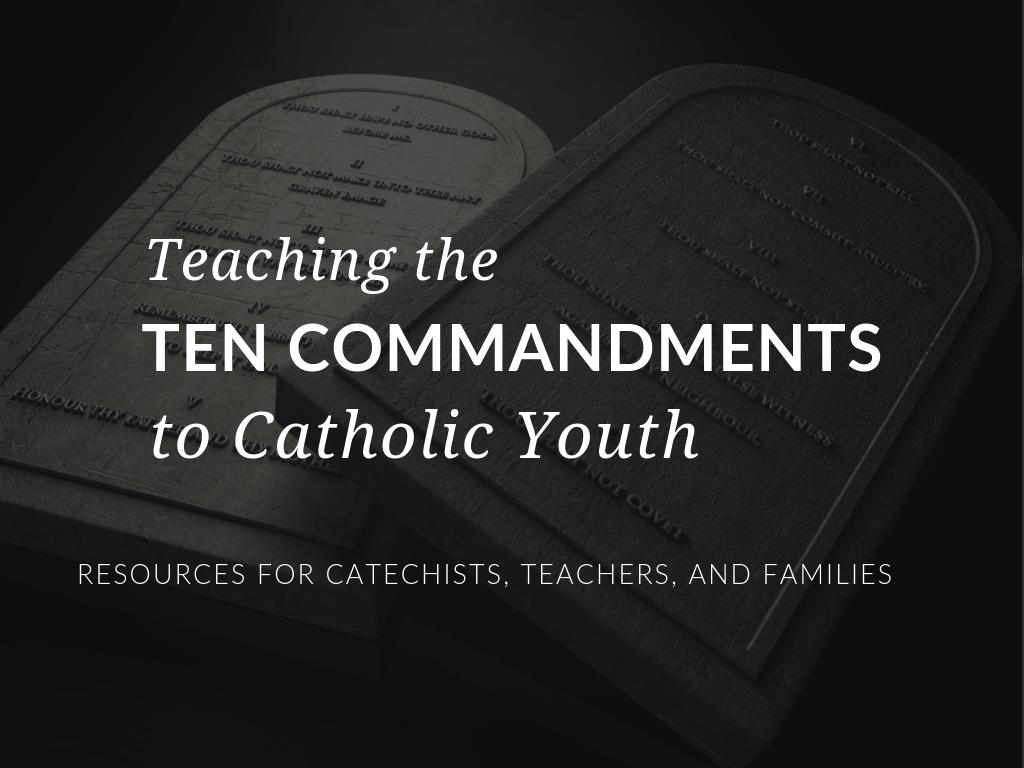 photo regarding Catholic Ten Commandments Printable called Training the 10 Commandments towards Youth