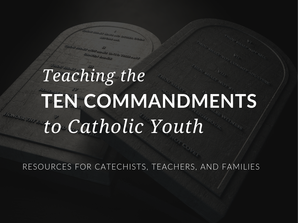 Meet the challenge of teaching the Ten Commandments to youth with a bundle of resources to help catechists, teachers, and parents of students from preschool to high school. Free Ten Commandments Activities for kids.