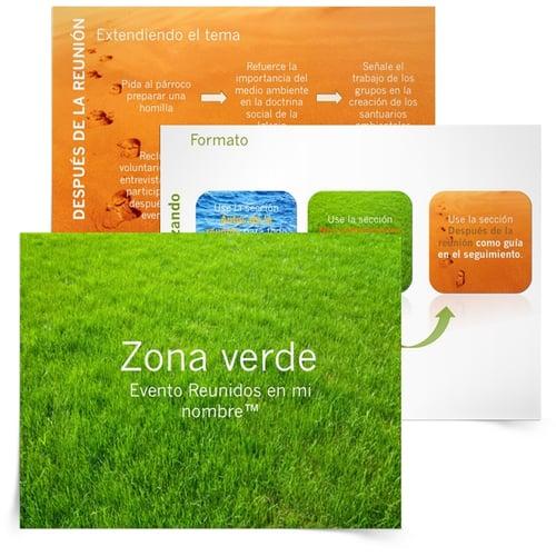 """Recursos imprimibles """"Cuidado de la creación de Dios"""" para católicos - Organizador y presentación ¡Zona verde!"""