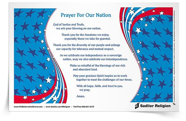 I also invite you to download a Prayer for Our Nation and use it with your family or parish as part of Independence Day celebrations!
