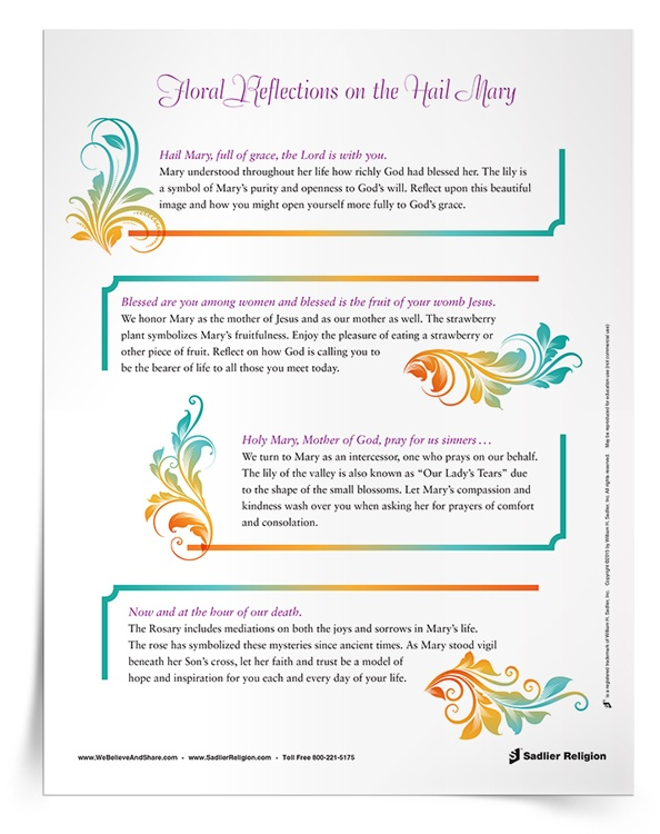 image relating to How to Pray the Rosary for Kids Printable identified as Components for the Thirty day period of Mary Totally free Printable Mary