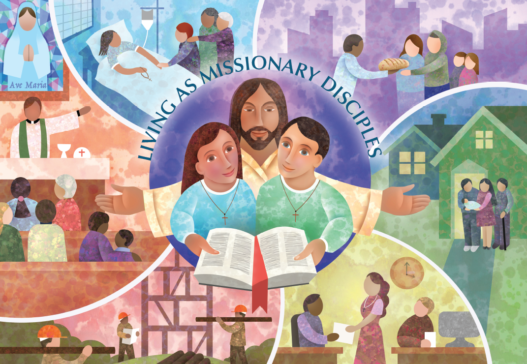 """This year, the Church will celebrate Catechetical Sunday on September 17, 2017. The 2017 theme will be """"Living as Missionary Disciples.""""  Copyright © 2017, United States Conference of Catholic Bishops, Washington D.C. All rights reserved."""