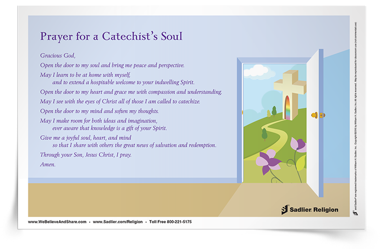 "Pope Francis has called upon all of us to serve as ""missionary discipleship."" For catechists this is a call to open themselves to workings of God's Spirit in their lives. Download a Prayer for a Catechist's Soul Prayer Card to reflect upon this call in your own life."