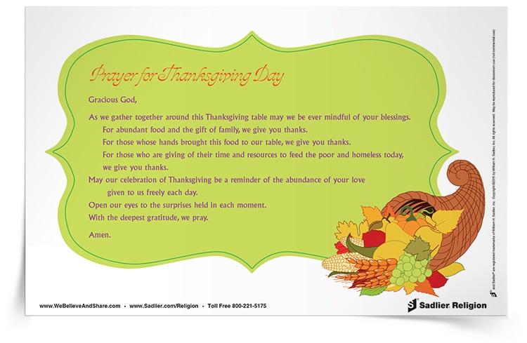 prayer for thanksgiving day