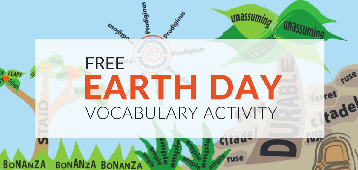 "With my printable worksheet, students will draw their favorite landscape, but actually ""draw"" it by writing vocabulary words in shapes. And while you can remind students, that a picture is worth a thousand words, they only have to use about 10-20 vocabulary words in their design."