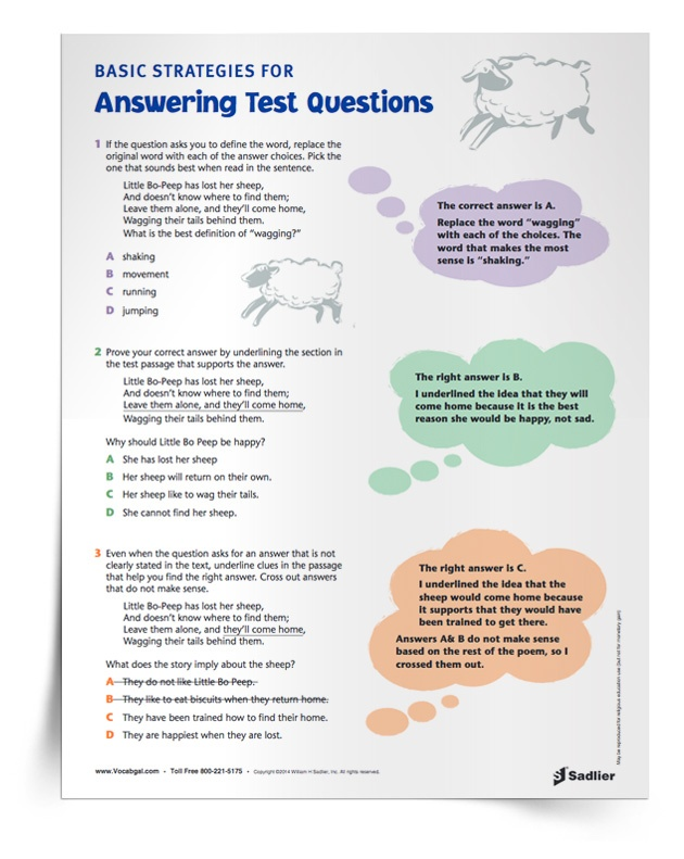 """Another great way to prepare students for high-stakes situations is to require them to use vocabulary in all activities and assessments. The more students """"play"""" with words on a daily basis, the more comfortable they will be recognizing and using them on high-stakes reading and writing tests."""