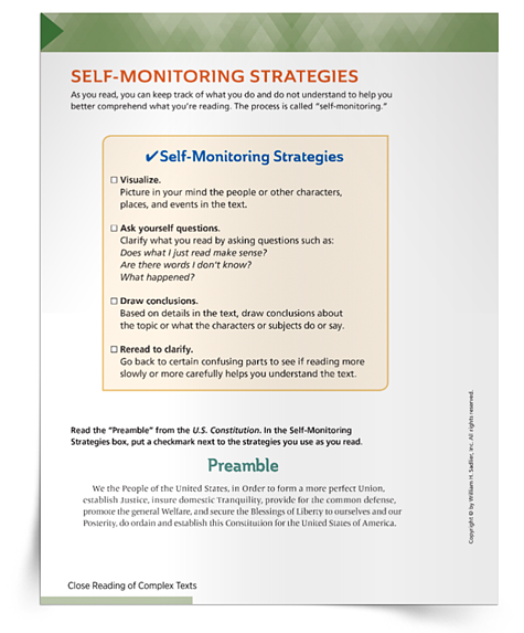 How Self-monitoring Strategies Support Students When Reading Closely