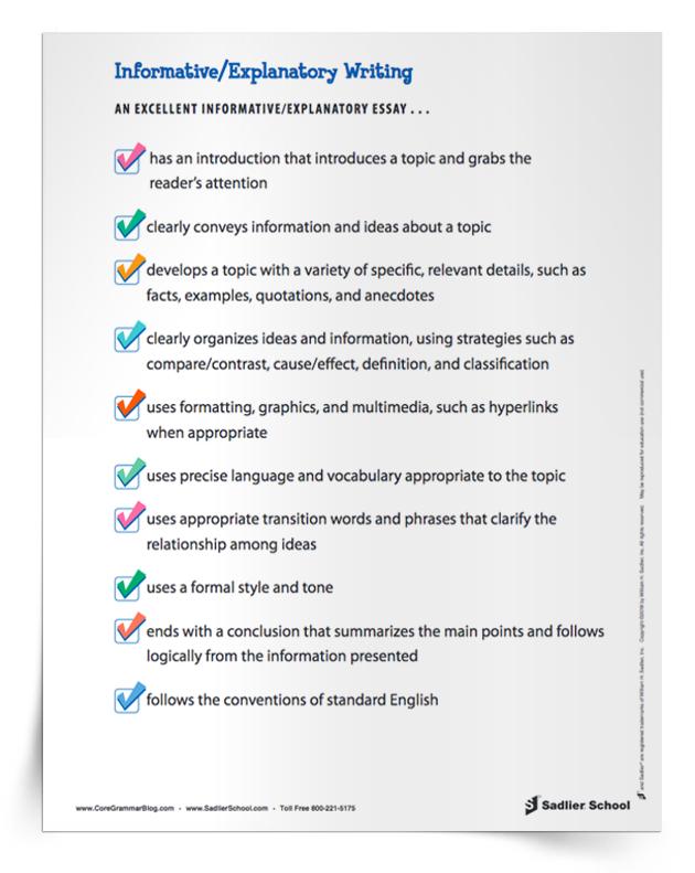 informative-explanatory-writing-essay-checklist