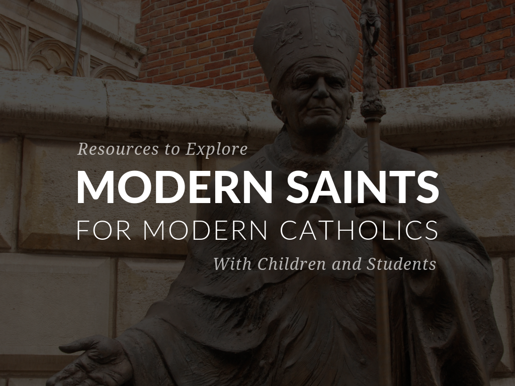 Time. The saints can be a source of information and inspiration for modern Catholics as they investigate their holy lives and times in which they lived. In this article, discover free printable resources for celebrating modern saints at home or in the classroom! Available in English and Spanish.