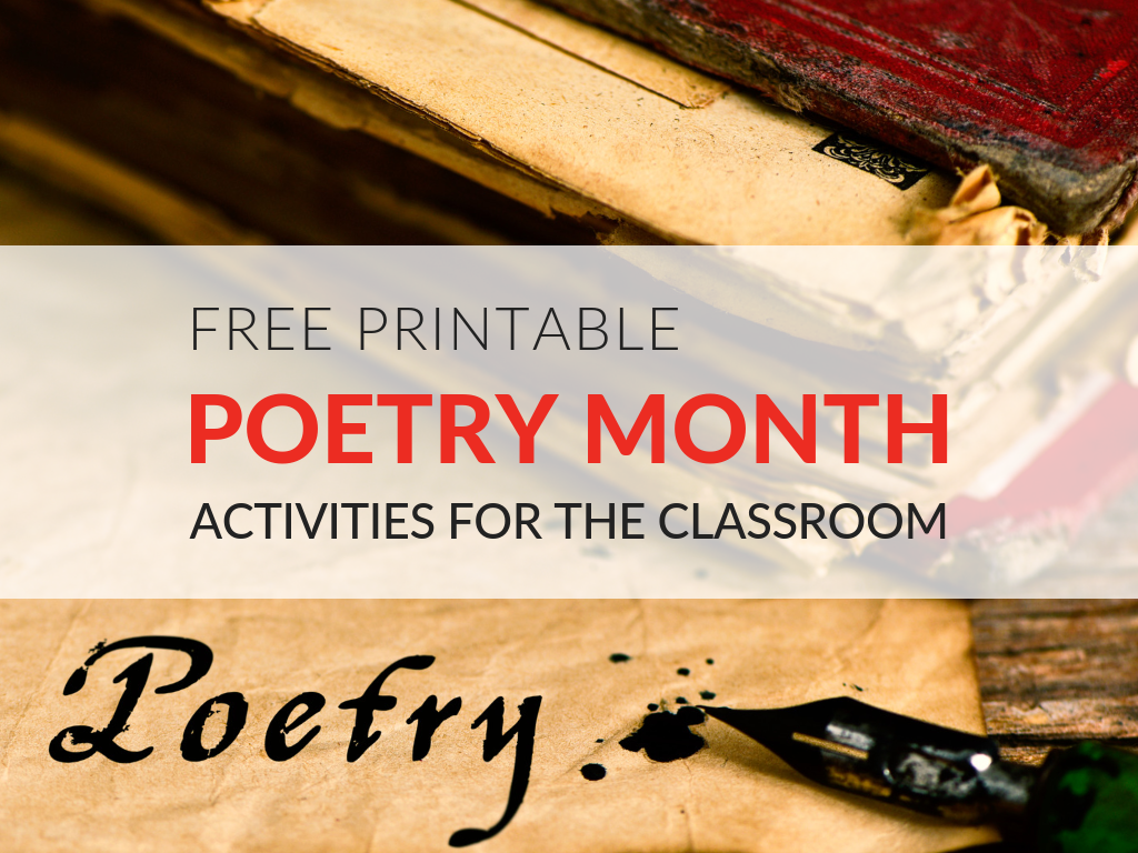 These fun poetry activities will make it easy to celebrate April's National Poetry Month in your classroom. All month, students and teachers across the country (along with libraries, publishers, and poets) celebrate the art of poetry. With the FREE printable poetry resources in this article, teachers will be ready for the celebrations!