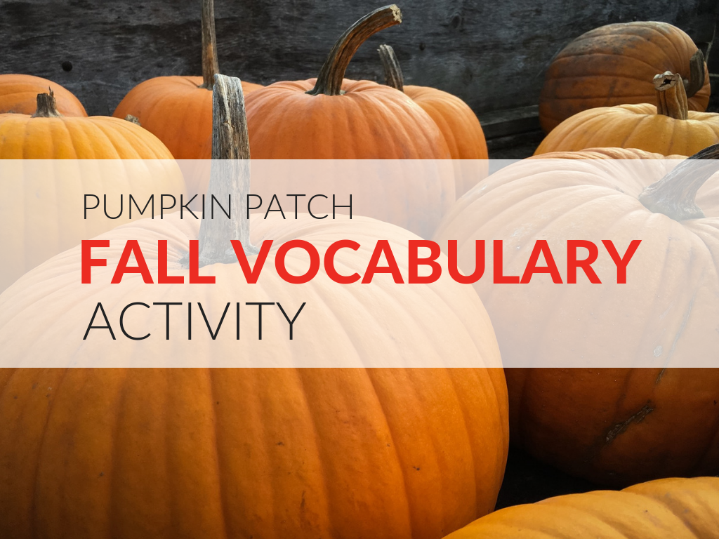 With the Pumpkin Patch Vocabulary Activity students are encouraged to write pumpkin phrases that are alliterative, or use a pun, or play with similes- any specific literary technique that you want.