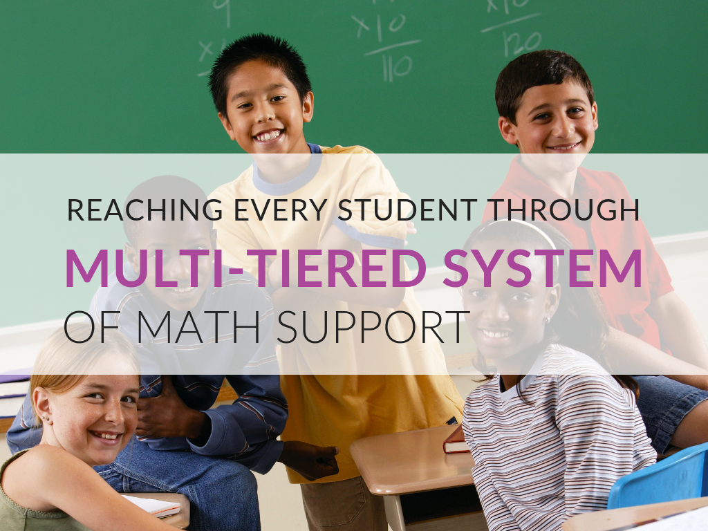 When you are really trying to reach every student in your classroom, using a Multi-Tiered System of Support provides a process and structures to help you achieve that goal. Whether you are in a position where you are trying to do this within your classroom or within the context of a grade-wide or building-wide effort, getting into the routine of frequent formative assessment followed by changes to your practice and quick, short-term regrouping of students for prompt remediation or acceleration has a great impact on the outcomes of classroom instruction.