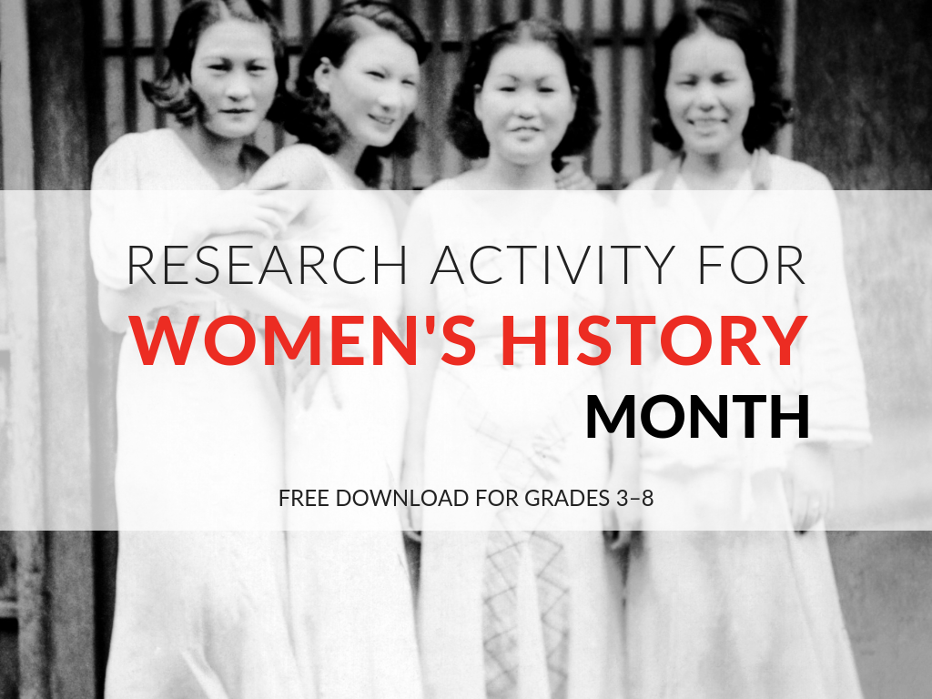 research-activity-worksheet-womens-history-month-elementary-middle-school