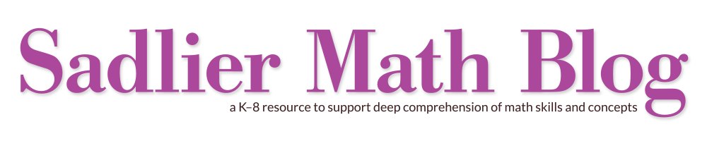 Blog for math teachers. The Sadlier Math Blog is a K-8 resource to support deep comprehension of math skills and concepts.