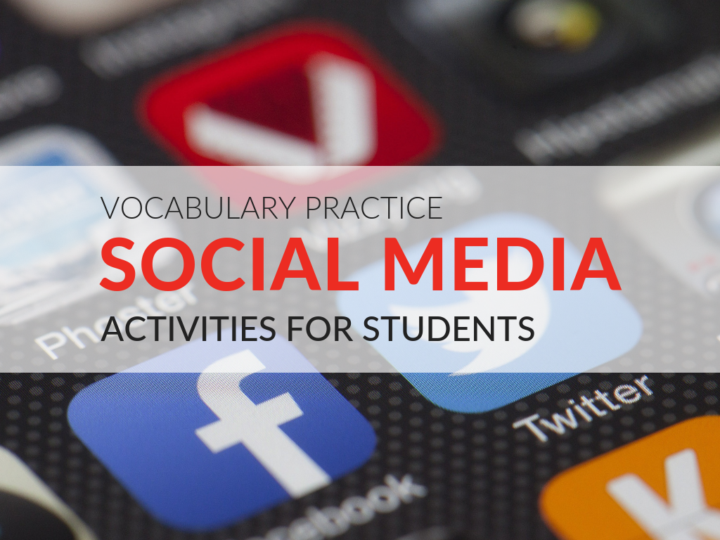 3 vocabulary practice worksheets that promote using social media in the classroom and are designed to help make learning vocabulary relevant to students!