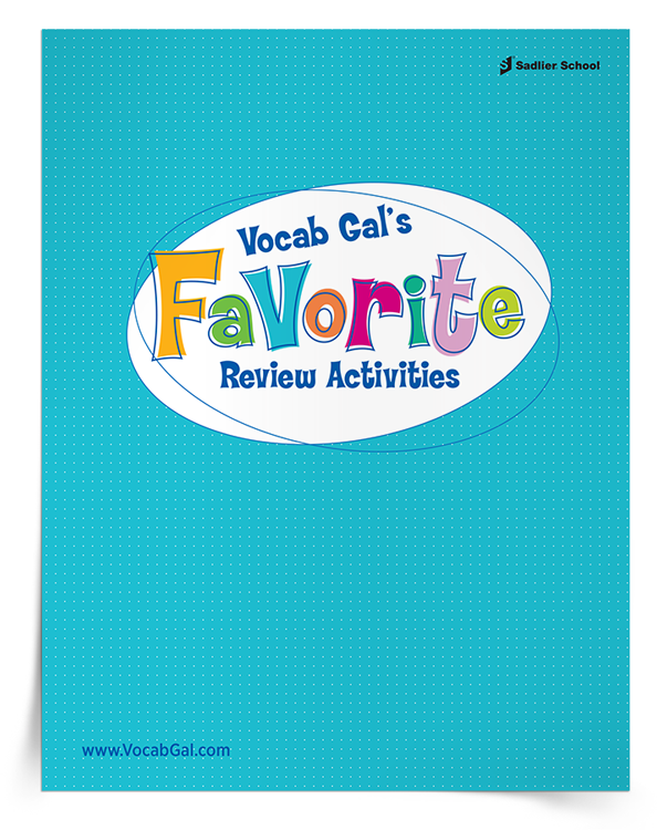 Download a kit of Vocab Gal's favorite vocabulary review activities.
