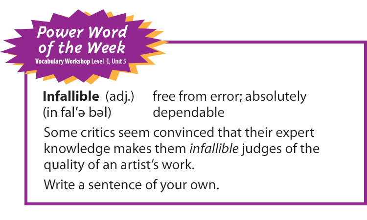 vocabulary-power-word-of-the-week-Infallible