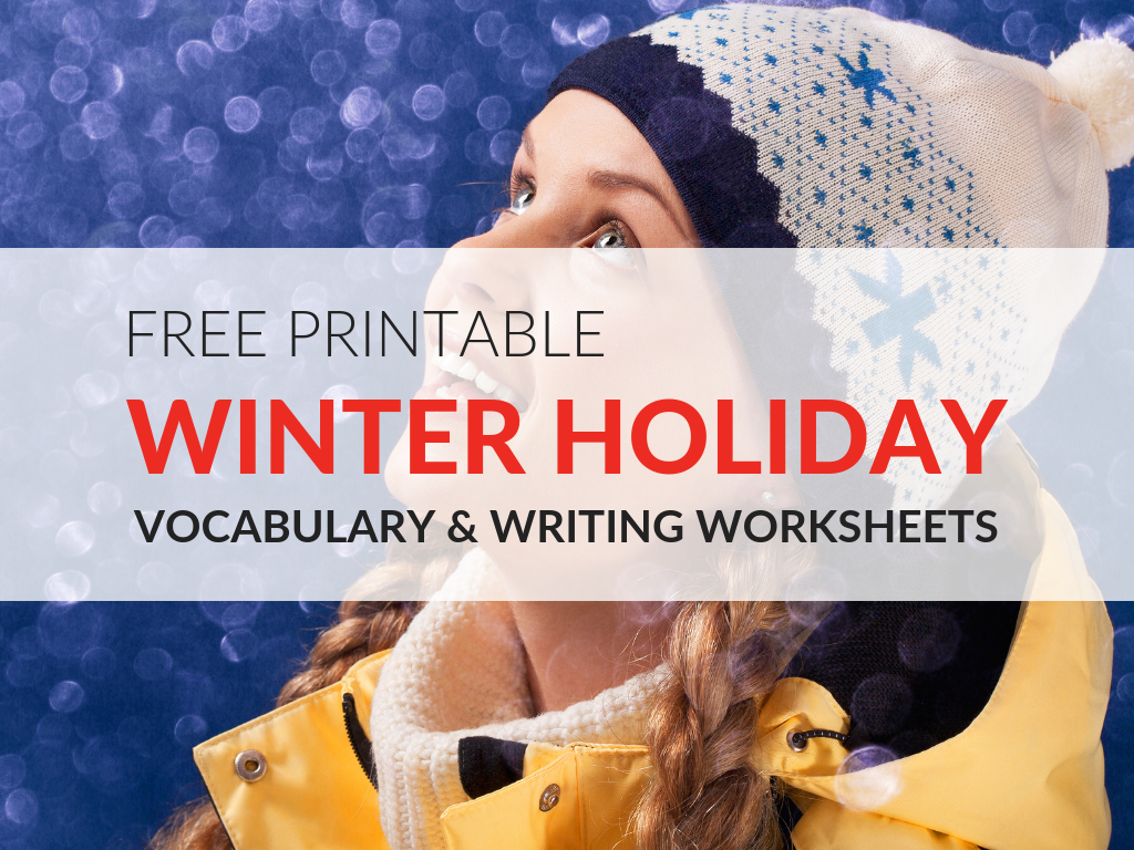 Get students back on task and engaged in learning with these winter holiday worksheets. Six free printable winter worksheets students can use to review vocabulary words and strengthen writing.