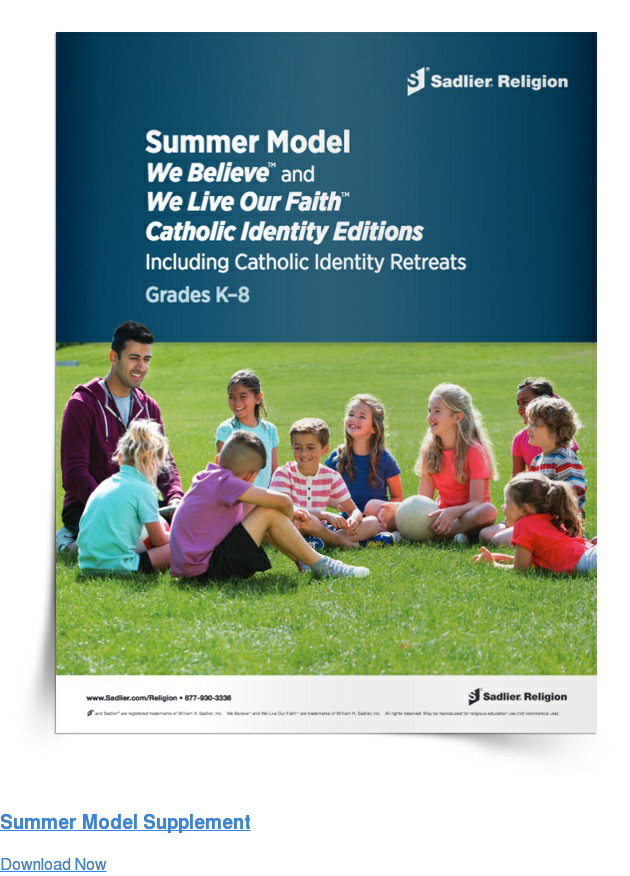 Summer Model Supplement Download Now