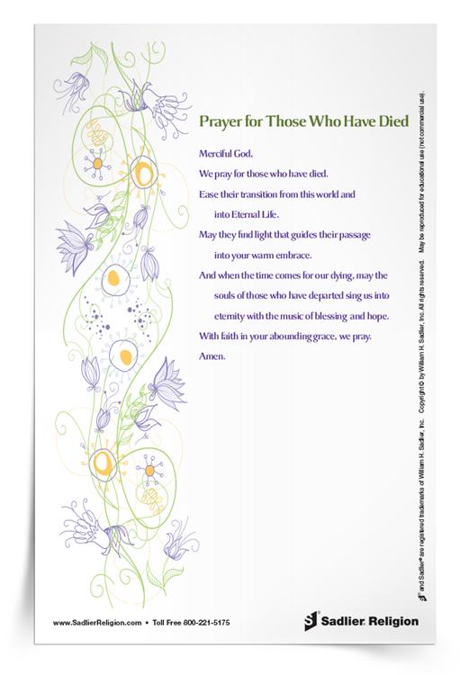 <em>Prayer for Those Who Have Died</em> Prayer Card