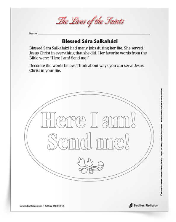 <em>Blessed Sára Salkaházi</em> Activity