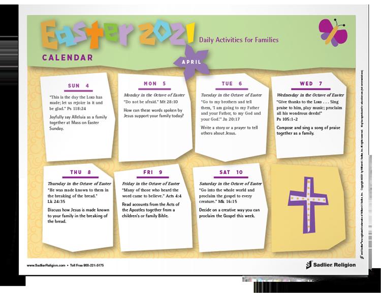 <em>Easter</em> Calendar