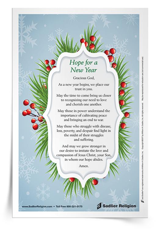 <em>Hope for a New Year</em> Prayer Card