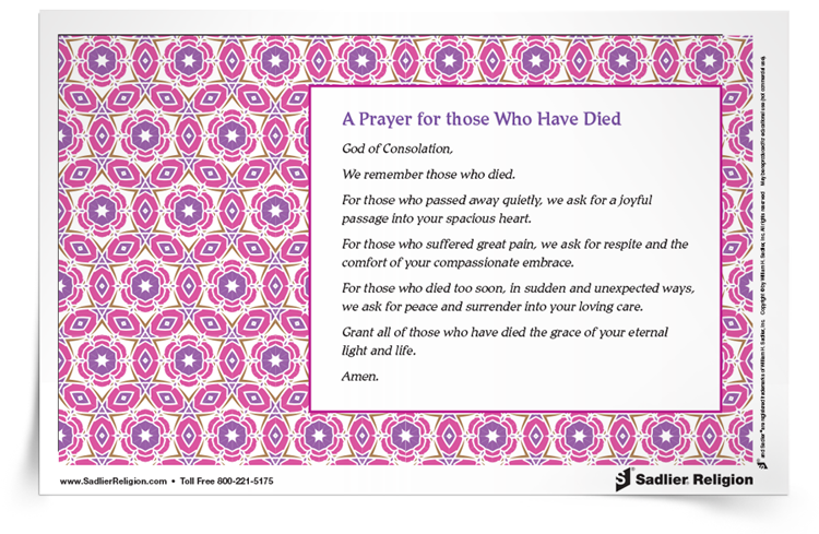 <em>A Prayer for Those Who Have Died</em> Prayer Card