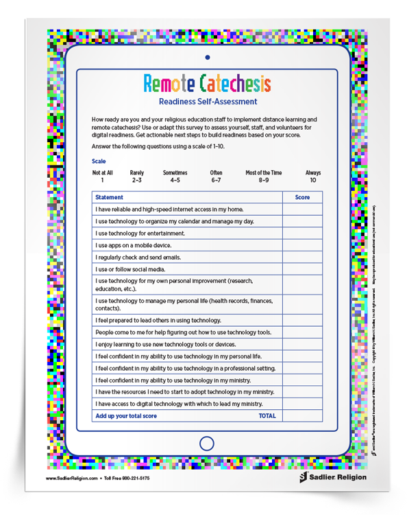 <em>Remote Catechesis Readiness</em> Self-Assessment