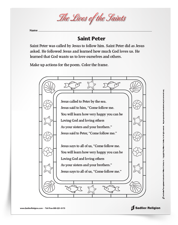 <em>Saint Peter the Apostle</em> Activity