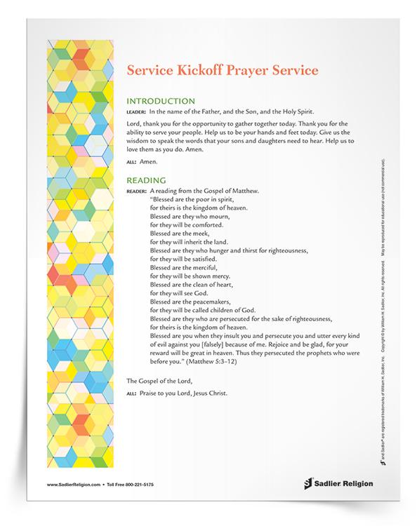 <em>Service Kickoff</em> Prayer Service
