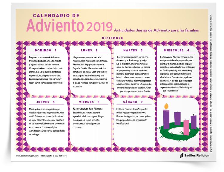 Calendario de <em>Adviento</em>