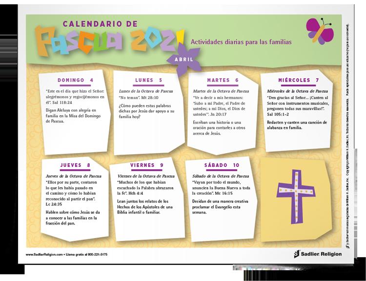 Calendario de <em>Pascua</em>