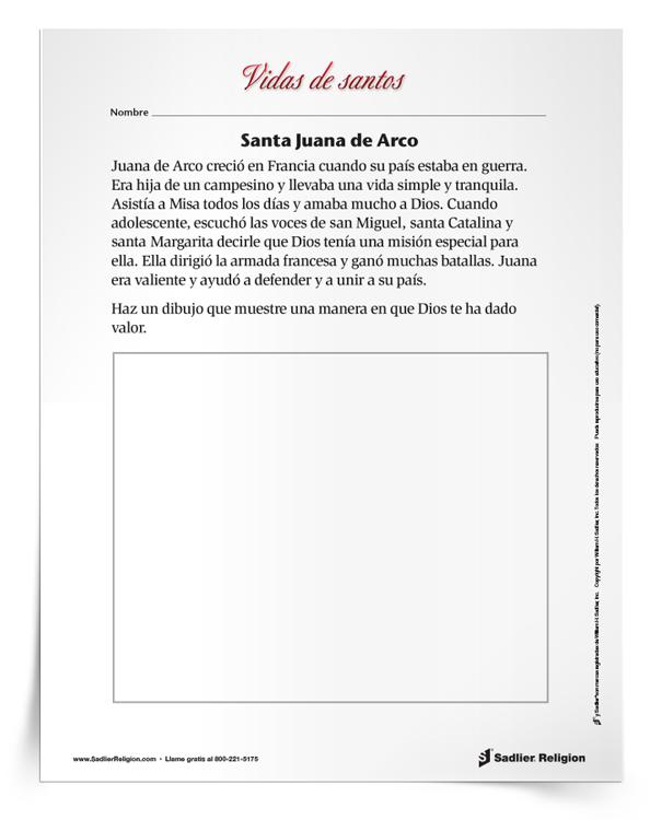 Actividad <em>Santa Juana de Arco</em>