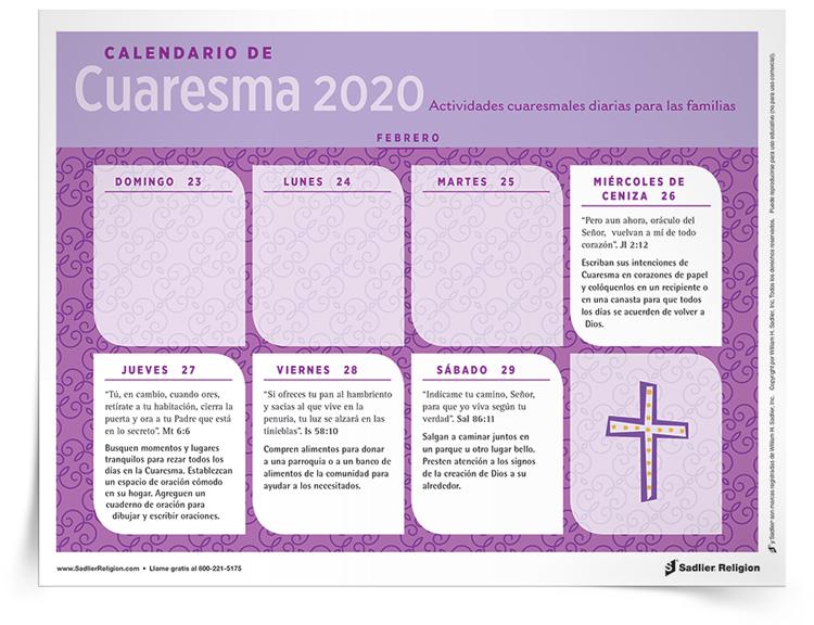 <em>Calendario de Cuaresma</em>