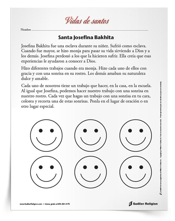 Actividad <em>Santa Josefina Bakhita</em>
