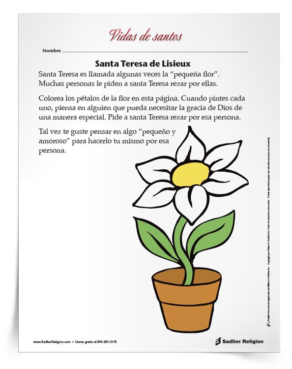 Actividad <em>Santa Teresa de Lisieux</em>
