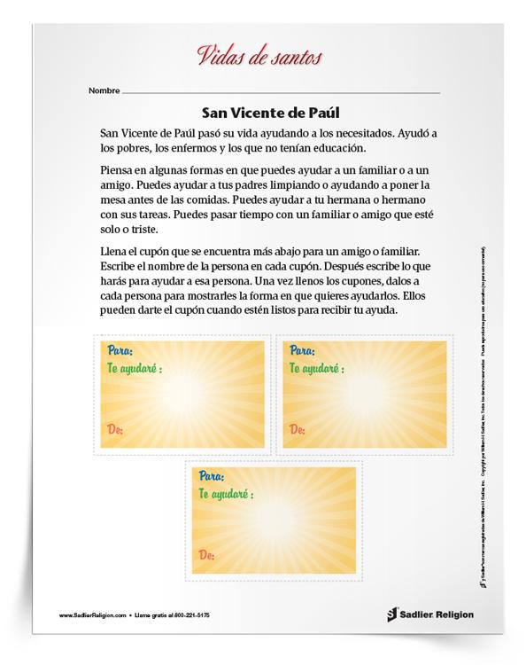 Actividad <em>San Vicente de Paúl</em>