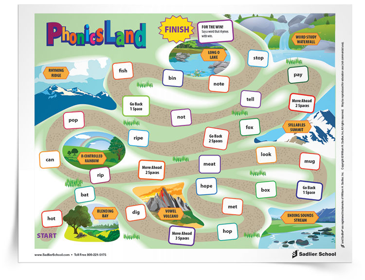 <em>Phonics Land</em> Game Boards